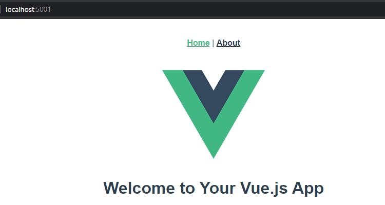 vue-cliのトップページを表示