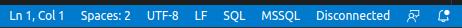 VSCode SQL Server 未接続状態