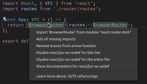 vscode Import文を自動作成